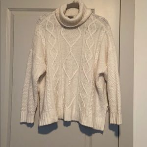 AE Cable Knit Turtleneck Oversized Sweater